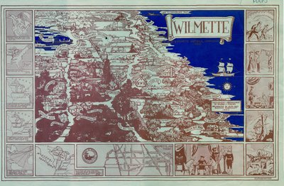 Pictorial map of Wilmette