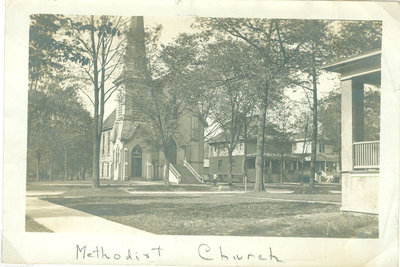Wilmette Methodist Episcopal Church view of entrance