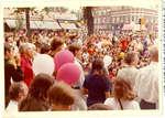 Crowd of people watching performers