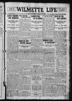 Wilmette Life (Wilmette, Illinois), 2 May 1924