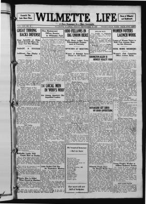 Wilmette Life (Wilmette, Illinois), 19 Sep 1924