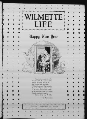 Wilmette Life (Wilmette, Illinois), 31 Dec 1926