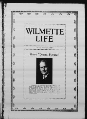 Wilmette Life (Wilmette, Illinois), 7 Jan 1927