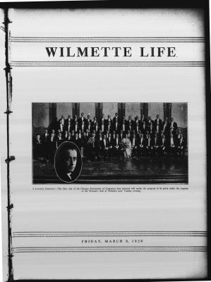 Wilmette Life (Wilmette, Illinois), 9 Mar 1928