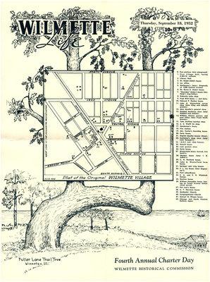 Plat of the Original Wilmette Village