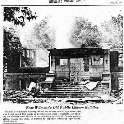 Raze Wilmette's Old Public Library Building