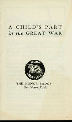 A child's part in the Great War