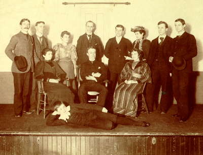 Cast of a play given in Library Hall