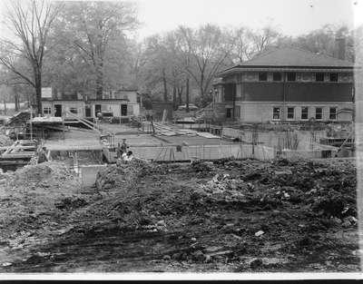 Wilmette Public Library construction No. 3