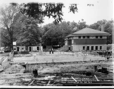 Wilmette Public Library construction No. 6