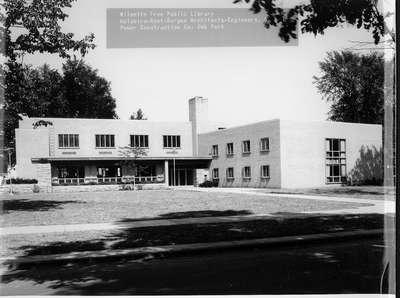 Wilmette Public Library construction No. 14