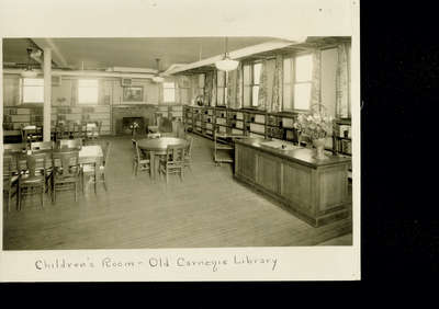 Carnegie Library of Wilmette Children's Room about 1920