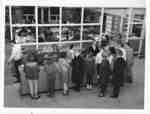 Wilmette Public Library circulation desk about 1960