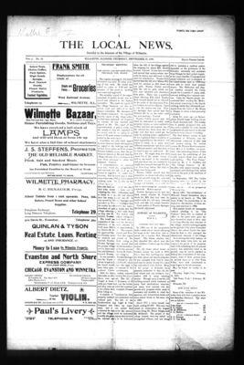 Local News, 15 Sep 1898