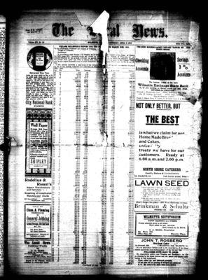 Local News, 9 Apr 1910