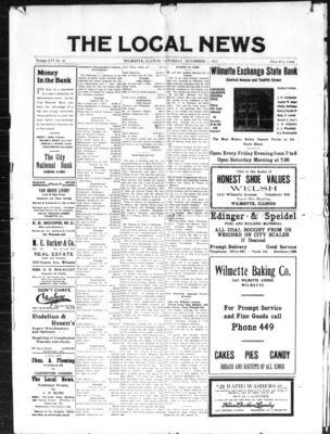 Local News, 1 Nov 1913