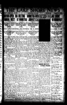 Lake Shore News (Wilmette, Illinois), 29 May 1912