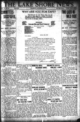 Lake Shore News (Wilmette, Illinois), 24 Oct 1912