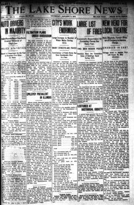 Lake Shore News (Wilmette, Illinois), 2 Jan 1913