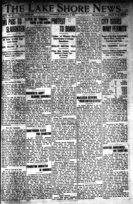 Lake Shore News (Wilmette, Illinois), 9 Jan 1913