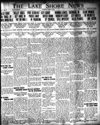 Lake Shore News (Wilmette, Illinois), 6 Mar 1913