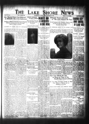 Lake Shore News (Wilmette, Illinois), 16 Oct 1914