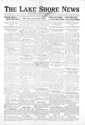 Lake Shore News (Wilmette, Illinois), 24 Oct 1919