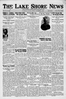 Lake Shore News (Wilmette, Illinois), 5 Nov 1920