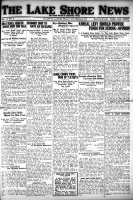 Lake Shore News (Wilmette, Illinois), 25 Nov 1921
